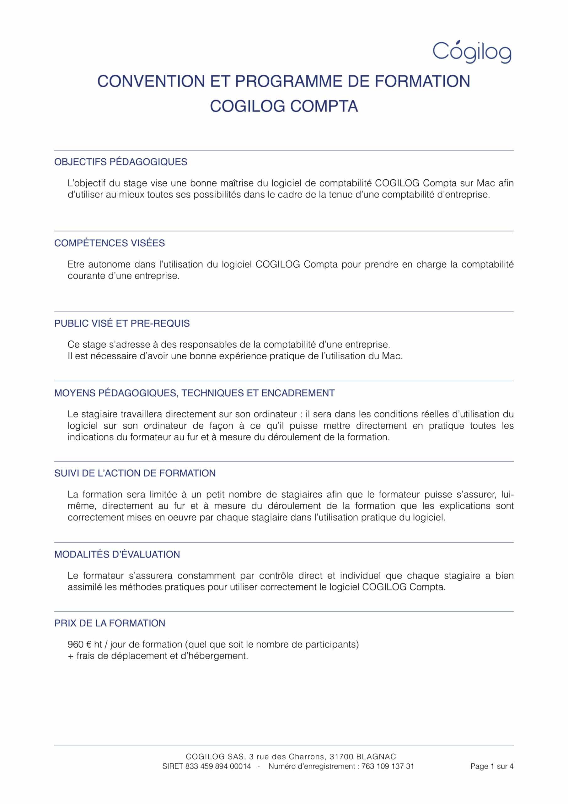 Programme de formation COGILOG Compta