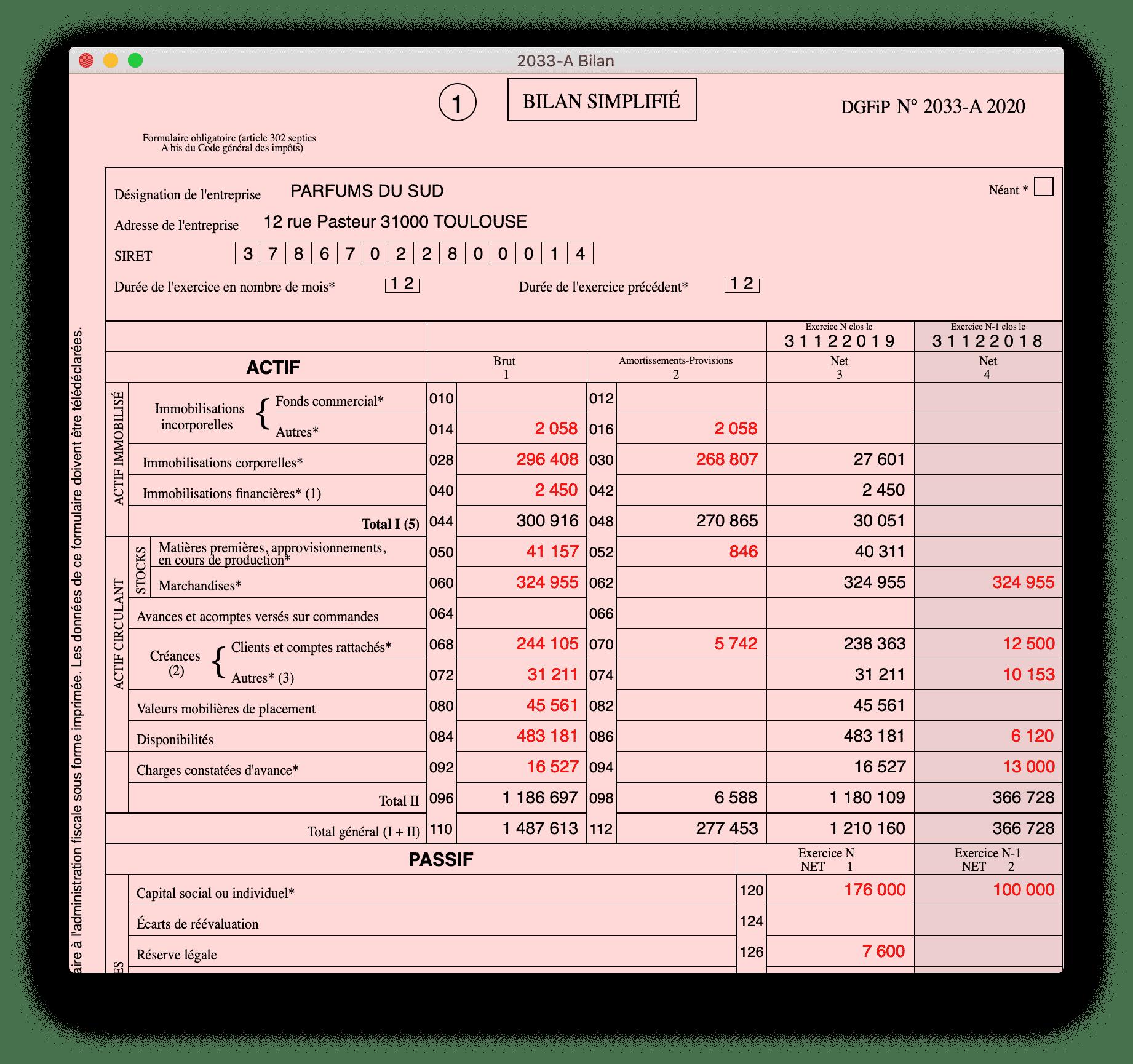 Cogilog Liasses - BIC régime simplifié