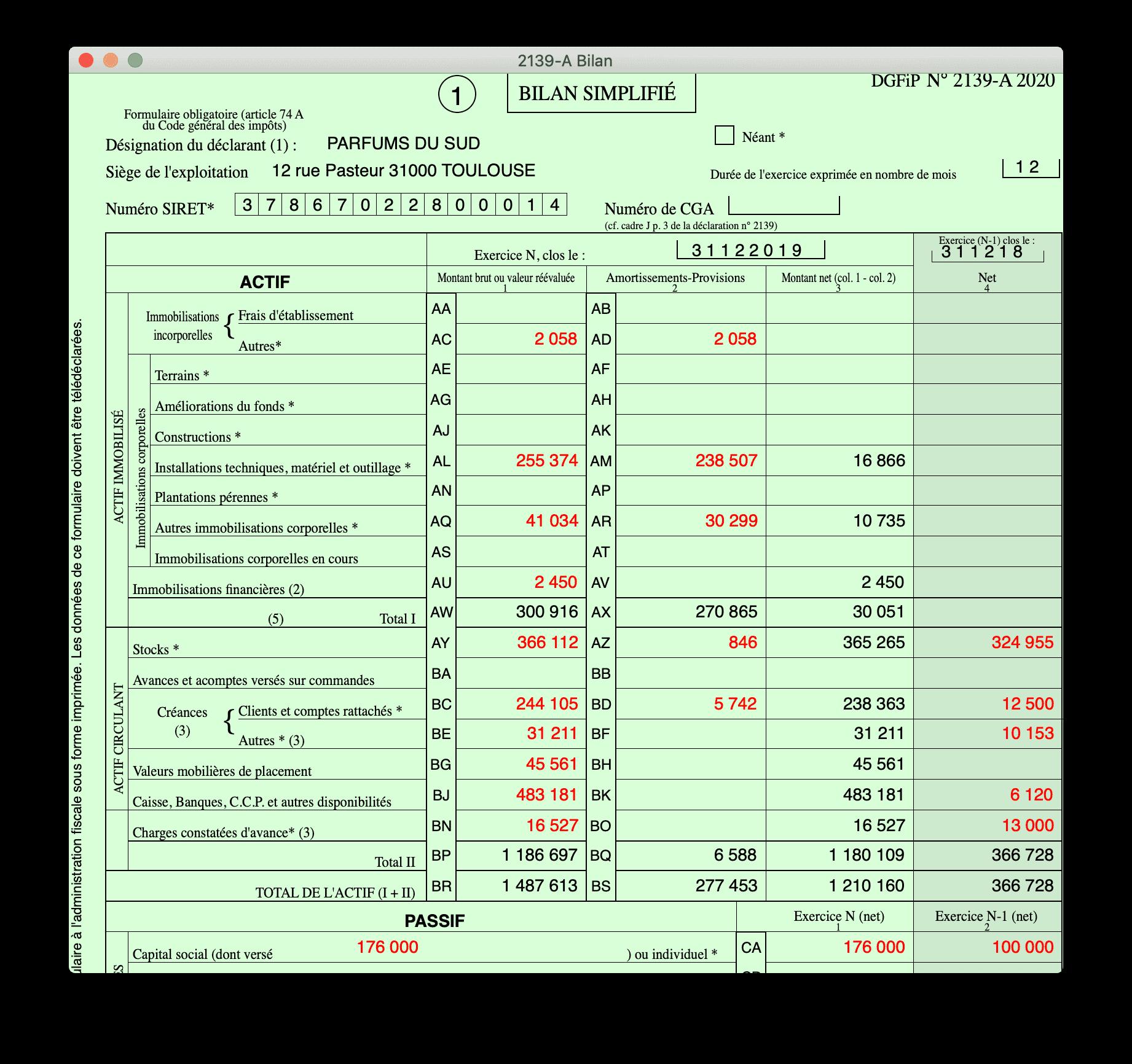 Cogilog Liasses - Agricole régime simplifié