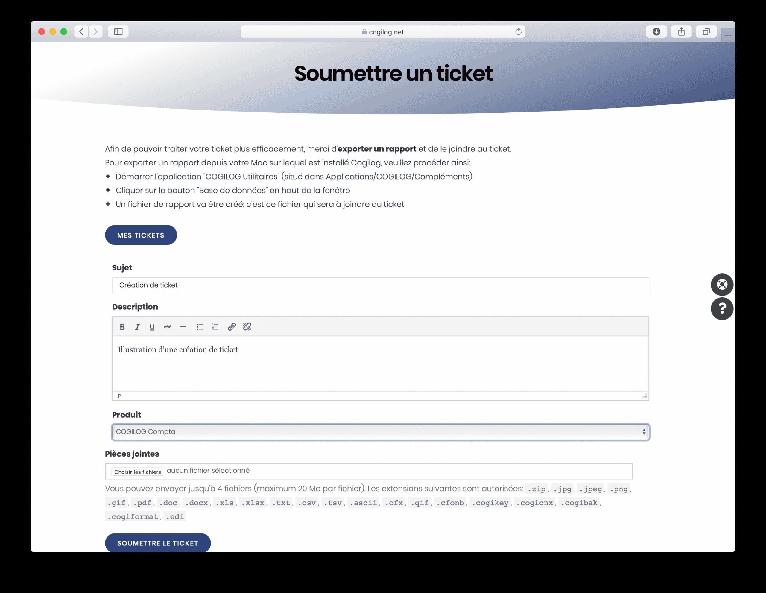 Support Ticket - 3 - Rédiger la question